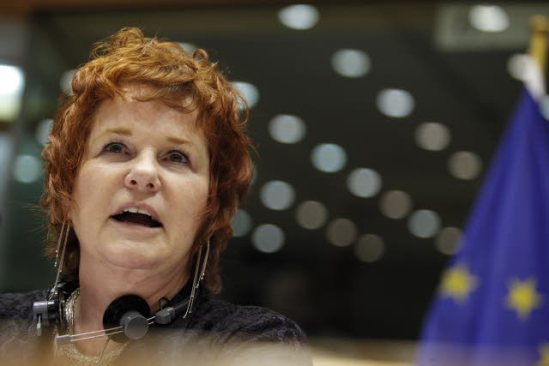 European Parliament. Committee on Economic and Monetary Affairs (ECON) meeting. Vote on the bank single resolution mechanism and fund. Sharon Bowles (ALDE, UK) ECON chairwoman, pictured here. (EP Audiovisual Services).