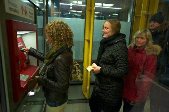 On 9 July 2013 the EU Council gave its green light to the adoption of the euro by Latvia on 1 January 2014. Latvians queued after Tuesday after midnight to get their first euro notes. (EC Audiovisual Services 01/01/2014).