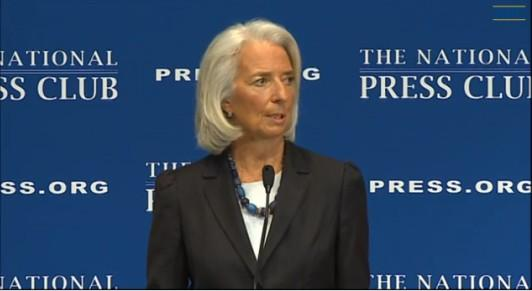 IMF Managing Director, Christine Lagarde spoke yesterday at the National Press Club in the U.S. capital. (IMF photographic library, 15/1/2014).