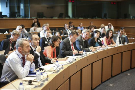 """European Parliament Meeting: Discussion on the subject, """"Overcoming the Energy Price Dilemma - SMEs at the crossroads"""". (EP Audiovisual Services)."""