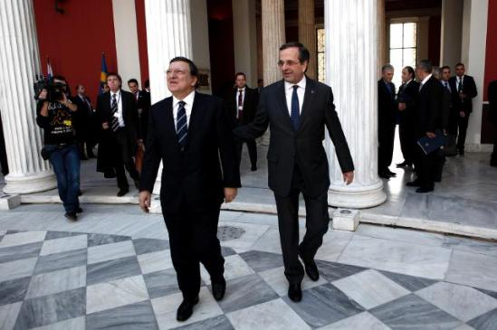 Yesterday, José Manuel Barroso, President of the European Commission, Antonis Samaras, Greek Prime Minister and President in office of the Council of the EU, several members of the College of the EC and practically the entire Greek government participated in the inaugural meeting of the Greek Presidency of the Council of the EU in Athens. Ceremonies were brief and austere. (EC Audiovisual Services 8/1/2014)