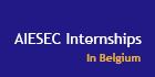 aiesec banner internships belgium