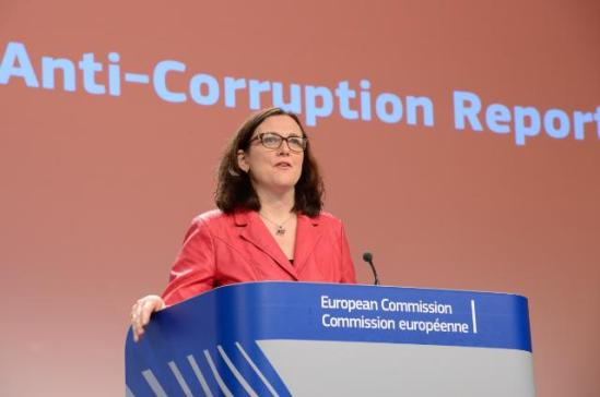 Press conference by Cecilia Malmström, Member of the European Commission, on the conclusions of the first ever EU Anti-Corruption Report. (EC Audiovisual Services, 3.2.2014).