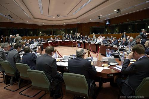 Ecofin Council of 18/2/2014. Yesterday the EU finance ministers discussed the possible adjustments to the Council's general approach reached in December 2013, on the single resolution mechanism. (The Council of the European Union, audiovisual services).
