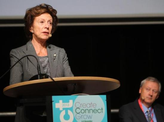 "Neelie Kroes, Vice-President of the EC in charge of Digital Agenda, went to Vilnius where she participated in the ""ICT 2013 - Create, Connect, Grow"" event, a session dedicated on ""Innovating by exploiting big and open data and digital content"" which took place at the Lithuanian Exhibition and Convention Centre (LitExpo)."