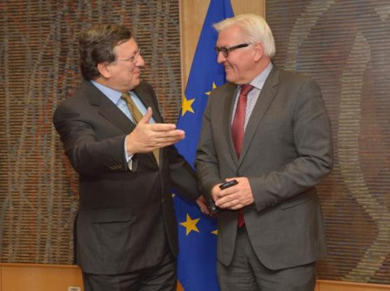 Visit of Frank-Walter Steinmeier, German Federal Minister for Foreign Affairs, to the European Commission in Brussels, where he was received by President José Manuel Barroso. (EC Audiovisual Services).