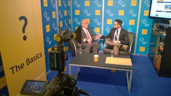 Hannes Swoboda's exclusive interview by Carlo Motta at the Sting's pavilion during EBS 2014