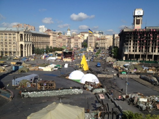 Ukraine, Kiev, Maidan Square; General view of the square. Shoot date: 13/05/2014. (European Council Newsroom).