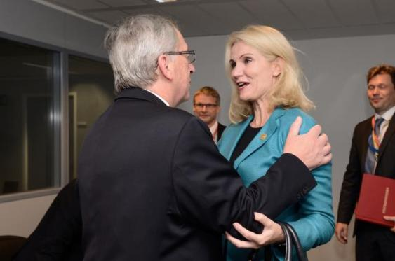 Jean-Claude Juncker, President-elect of the EC, met with Helle Thorning Schmidt, Danish Prime Minister. (EC Audiovisual Services, 16/07/2014)