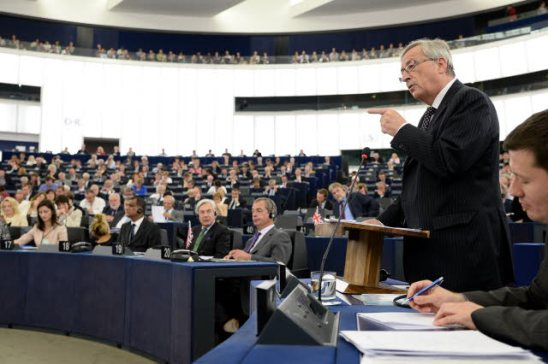 Jean-Claude Juncker, addressing the Plenary of the European Parliament - Statement by the candidate for President of the Commission. (European Parliament Photographic Library 15/07/2014).