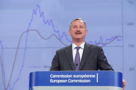 Press conference by Siim Kallas, Vice-President of the European Commission, on the spring 2014 economic forecasts. (EC Audiovisual Services, 05/05/2014).