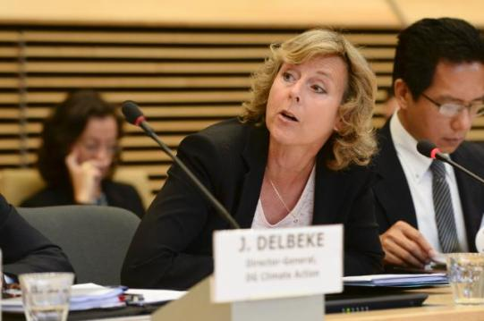 Participation of Connie Hedegaard, Member of the EC in charge of Climate Action and Jos Delbeke, Director General of the EC's DG Climate Action at the welcome and opening session of the 'Mayors Adapt' event (EC Audiovisual Services, 16/10/2014)