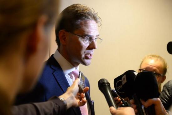 Jyrki Katainen, Vice-President for Economic and Monetary Affairs and the Euro, was auditioned by the European Parliament. After his hearing, Katainen held a press briefing for the journalists. (EC Audiovisual Services, : 07/10/2014).