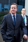 The British Premier looks pissed off at the camera, probably because of the criticism that his immigration proposed reform would meet at the Council last week, 18-19 December. Mr David Cameron is the UK Prime Minister and the leader of the British Conservative Pary. (European Council Audiovisual Services, 18/12/2014)