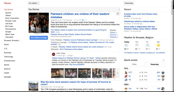 Google News. Spanish version not any more available.