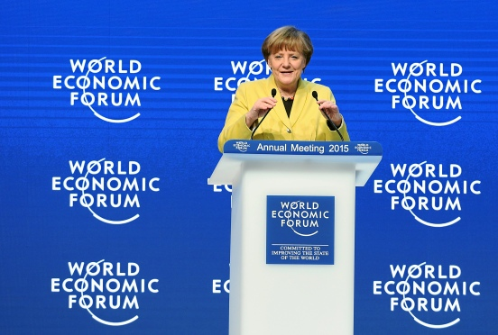 Angela Merkel at World Economic Forum 2015 in Davos (WEF, 22/01/2015)