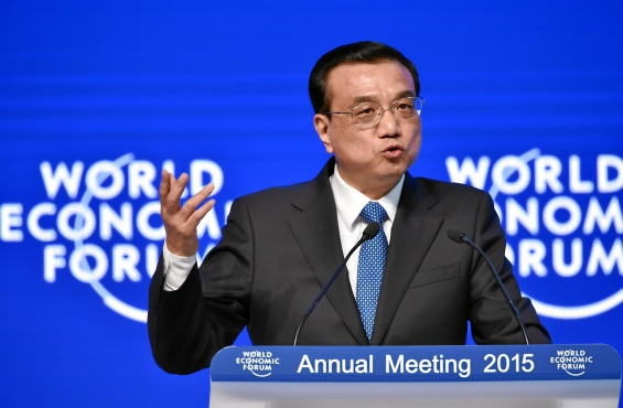 Li Keqiang, Premier of the State Council of the People's Republic of China at World Economic Forum 2015 in Davos, Switzerland (WEF, 21/01/2015)