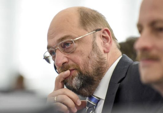Mr Schulz is thinking here that perhaps his and his colleagues are practically voting for the opposite of what they are said they are voting for. But now it is too late... Martin schulz is the European Parliament President, here at the Plenary session week 3 2015 in Strasbourg (EP Audiovisual Services, 13/01/2015)