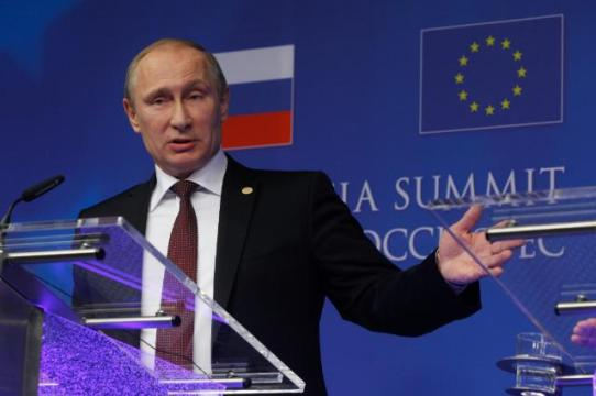 Come and join our Eurasian Union Mr Putin would like to say to the EU, but it seems that the EU will not RSVP. Photo of Mr Vladimir Putin, President of Russia, from the EU-Russia Summit  one year ago (EC Audiovisual Services, 28/01/2014)