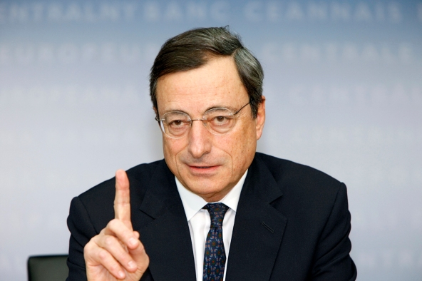 Mario is pointing the figure to Greece today in Frankfurt. Mario Draghi, President of the European Central Bank (ECB audiovisual services, 2011)