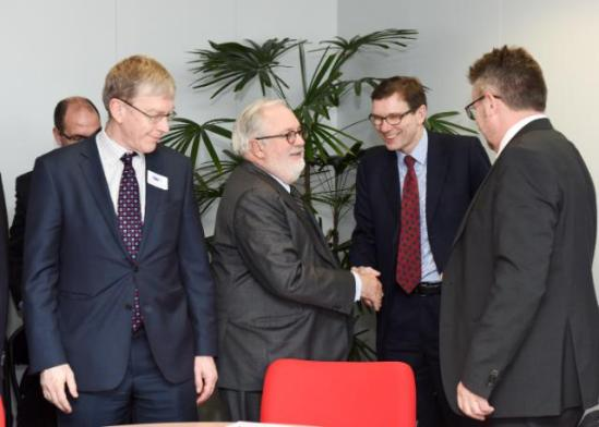 Tough to compromise climate energy with industry? Not for Miguel Arias Cañete, Member of the EC in charge of Climate Action and Energy, who received the CEOs of the energy intensive industries earlier in the month. (EC Audiovisual Services, 19/02/2015)