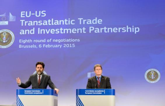 From left to right Dan Mullaney, Chief US Negotiator for the Transatlantic Trade and Investment Partnership (TTIP), and Ignacio Garcia Bercero, Chief EU Negotiator for the TTIP, opened last month the eight round of the Transatlantic Trade and Investment Partnership (TTIP) talks, in Brussels (EC Audiovisual Services, 06/02/2015)