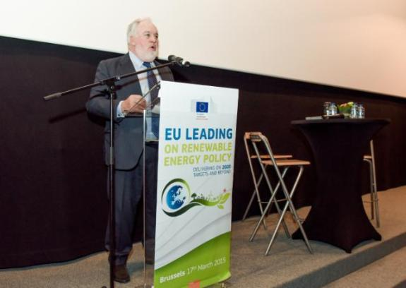 Miguel Arias Cañete, Member of the EC in charge of Climate Action and Energy, pronounced a speech at the conference on the 'Renewable Energy Solutions for Today's Challenges and Tomorrow's World', which was organised in Brussels (EC Audiovisual Services, 16/03/2015)