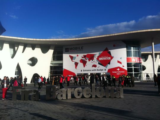 Photo from the main entrance of Fira Barcelona, where the Mobile World Congress 2015 took place last week. European Net Neutrality and Roaming Charges were part of the debate in this year's 10th edition. © European Sting