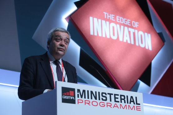 Mr Víctor Calvo-Sotelo,  Secretary of State for Telecommunication and Society Information in Spain. The photos were taken during MWC 2015, in the Government Forum which took place on Wednesday March 4th (© European Sting)