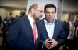 President Schulz seems to have a hard time to understand Syriza's vague vision for Greece during last EU Summit in April. From left to right, Mr Martin SCHULZ, President of the European Parliament, Mr Alexis TSIPRAS, Greek Prime Minister. (Council TVnewsroom, 23/04/2015)