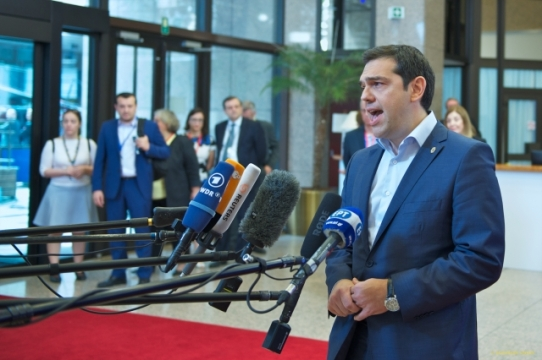 The one man that opened the pandora's box in Greece and EU. Alexis Tsipras, the Prime Minister of Greece at the last European Council, (TVnewsroom, 26/06/2015)