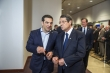 """It will be this coming weekend that we impose capital controls in Greece, like you did in 2013."", Tsipras would might as well be saying to the President of Cyprus. From left to right: Mr Alexis TSIPRAS, Greek Prime Minister; Mr Nicos ANASTASIADES, President of Cyprus (Council TVNewsroom, 10/06/2015)."