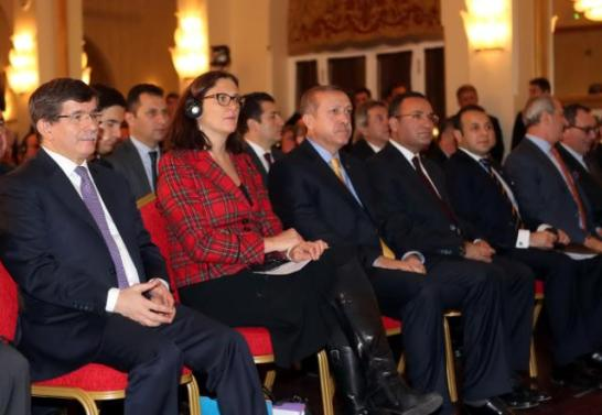 In December 2013, Cecilia Malmström, the then Member of the European Commission in charge of Home Affairs (second from left) visited Turkey. (in the 1st row, from left to right) Ahmet Davutoğlu, the then Turkish Foreign Minister, Malmström, Recep Tayyip Erdoğan, the then Turkish Prime Minister, Bekir Bozdağ, the then Turkish Deputy Prime Minister, Egemen Bağış, the then Turkish Minister for EU Affairs and Chief Negotiator for Turkey's accession negotiations with the EU, and Zafer Çağlayan, the then Turkish Minister for Economy. Seeing it in retrospect Malmström's advice to respect media freedom, free expression and judicial independence didn't pay any dividends. Erdogan had it its own way. (EU Commission Audiovisual Services, 16/12/2013, Location: Ankara – Parliament).
