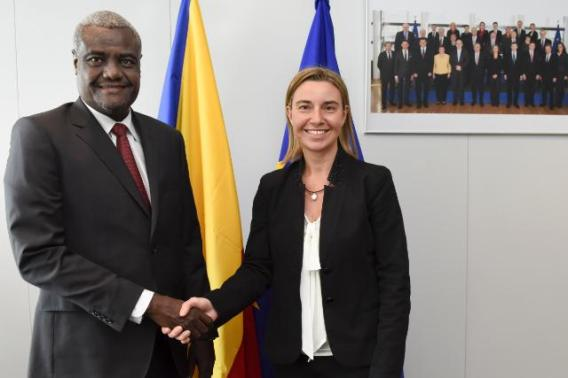 Federica Mogherini receives Moussa Faki, Chadian Minister for Foreign Affairs and African Integration (EC Audiovisual Services, 17/06/2015)