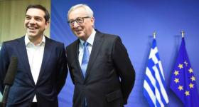Jean-Claude Juncker, President of the EC, received Alexis Tsipras, Greek Prime Minister, (on the left) ahead of the Euro Summit on Greece, which took place last week. (EC Audiovisual Services, Date: 22/06/2015 Location: Brussels - EC/Berlaymont).