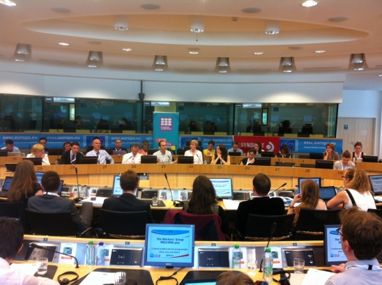 "ETUC Youth Committee & European Youth Forum Conference at the European Economic and Social Committee: ""Quality jobs creation for young people: what, how and when?"" (European Sting, 25/06/2015)"