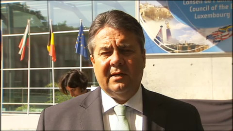 Sigmar Gabriel, Federal Minister for Economic Affairs and Energy of Germany participated at the Transport, Telecommunications and Energy Council which focused on Energy, on 8 June 2015, in Luxembourg. Gabriel is also Vice Chancellor of Germany since 2013 and chairman of the Social Democratic Party of Germany as from 2009. Recently he is at odds with his colleague the German Federal Minister of Finance Wolfgang Schäuble over Greece's position in or out from Eurozone. (European Council - Council of the European Union, Audiovisual Services, Shoot date: 08/06/2015, Location: Luxembourg. Snapshot from a video).