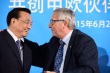Chinese Premier, Li Keqiang and the President of the European Commission, Jean-Claude Juncker at the China-EU Business Summit on 29 June 2015 at Egmont Palace, Brussels (BUSINESSEUROPE, 29/06/2015)