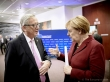 European Council - October 2015. The heads of State or Government of the EU meet in Brussels on 15 October 2015 to focus on migration in its various aspects. From left to right: Jean-Claude Juncker, President of the European Commission, Angela Merkel, German Federal Chancellor. (European Council – Council of the European Union. Shoot location: Brussels – Belgium. Shoot date: 15/10/2015. Copyright Credit 'The European Union').