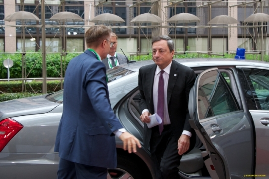 Euro Summit. Mario Draghi, European Central Bank President participated in the July 2015 European Council Summit. (Shoot location: Brussels – Belgium. Shoot date: 07/07/2015. Copyright credit: 'The European Union').