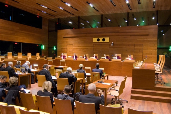 A hearing at the European Court of Justice (European Court of Justice, 2010)