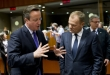 """I will open pandora's box with my bare hands and then BOOM!"", Mr Cameron might as well be saying to Donald Tusk.  Photo taken from the last EU Council on 15-16 October 2015. From left to right: Mr David CAMERON, UK Prime Minister; Mr Donald TUSK, President of the European Council (European Council TVNewsroom, 15/10/2015)."