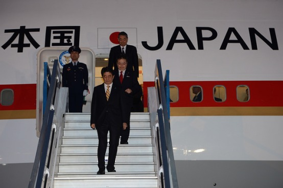 Shinzo Abe Japan Prime Minister Japan_Arrival airplane_G20_European Sting_.jpg