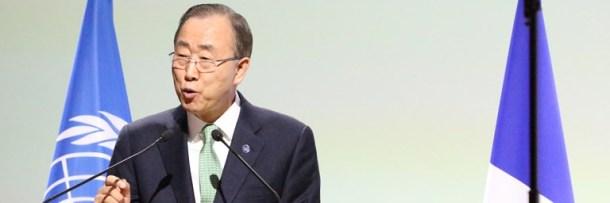 Ban Ki Moon UN COP21 Paris