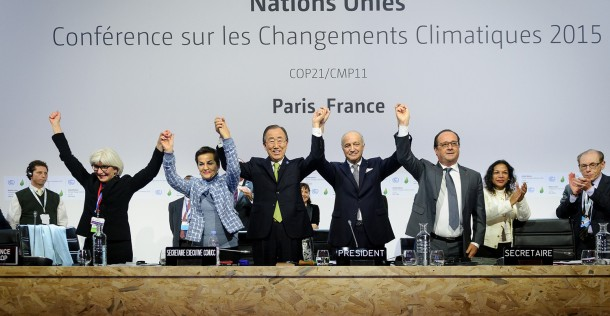 Paris COP21 Agreement UN 12 December