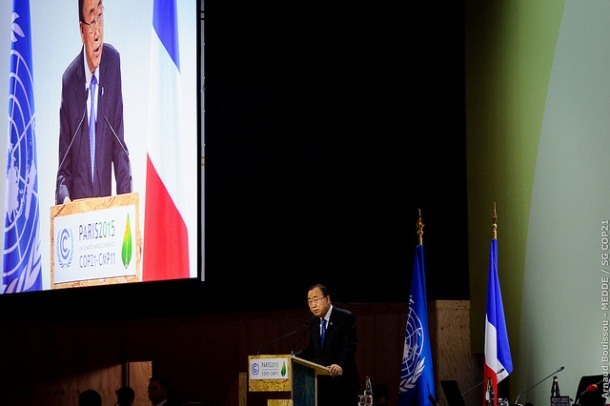 UN Secretary General Ban Ki-moon COP21