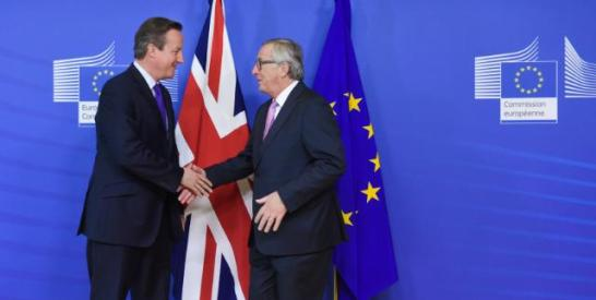 Jean-Claude Juncker, President of the European Commission (on the right), received David Cameron, British Prime Minister.Date: 15/10/Location: Brussels - EC/Berlaymont. © European Union, 2015 / Source: EC - Audiovisual Service, Shimera / Photo: Jennifer Jacquemart .