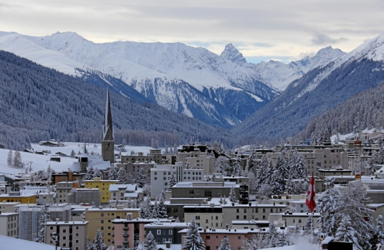 Davos - Switzerlan, 14/1/2016 - View of Davos captured a few days before the opening of the 46th WEF annual meeting 2016. (swiss-image.ch/Photo Andy Mettler).