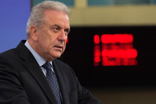 Press conference by Dimitris Avramopoulos, Commissioner in Charge of Migration, Home Affairs and Citizenship, on the adoption of final Visa Liberalisation Reports for Georgia, Ukraine, and Kosovo. © European Union, 2015 / Source: EC - Audiovisual Service / Photo: Georges Boulougouris.