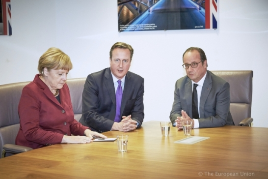 David Cameron Angela Merker Francois Hollande Brexi